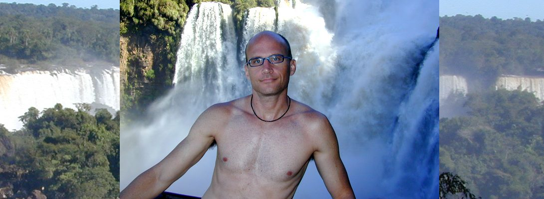 Lee Chapman Exploring the Iguazú Falls are waterfalls of the Iguazu River on the border of the Argentina and Brazil. They make up the largest waterfall system in the world.