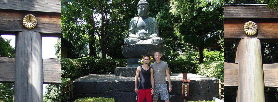Lee Chapman and Nestor exploring Tokyo Japan