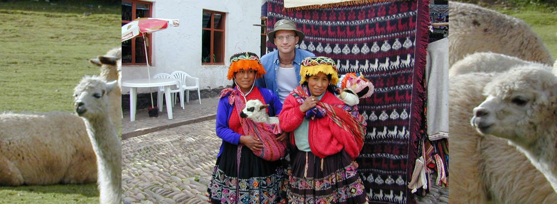 Lee Chapman Exploring Peru and local inhabitants