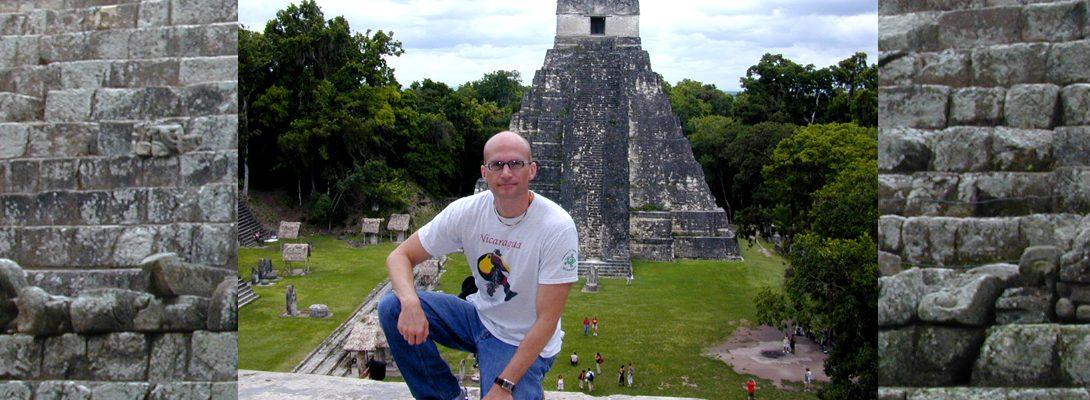 Lee Chapman exploring Guatemala