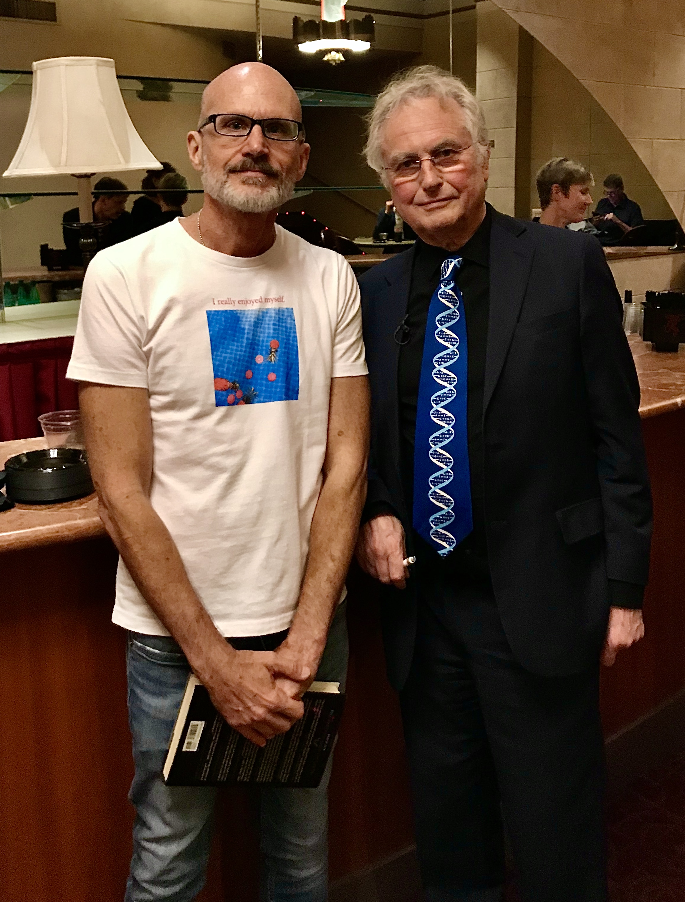 Lee Chapman and Richard Dawkins in Los Angeles 10.20.2019