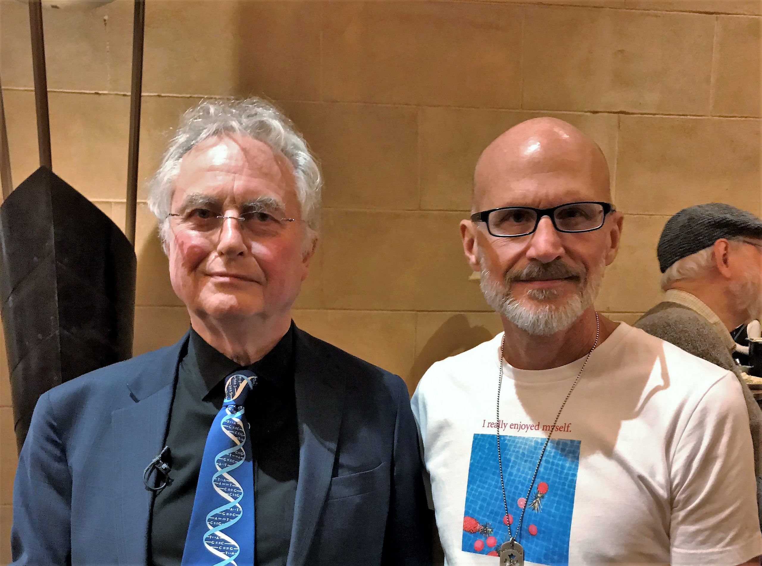 Lee Chapman meeting Professor Dawkins in Los Angeles 10.2019